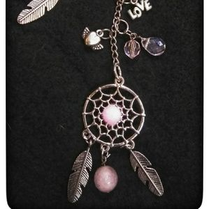 Rare LOVE Dream Catcher Key Chain Purse Charm